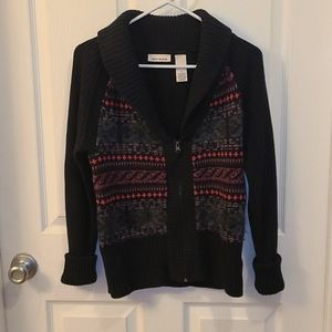 DKNY Jeans Zippered Cardigan Sweater Coat